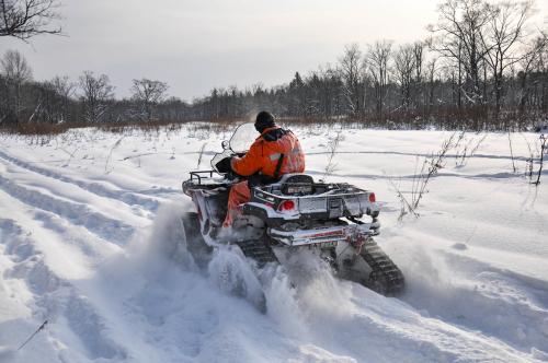 ATV on tracks