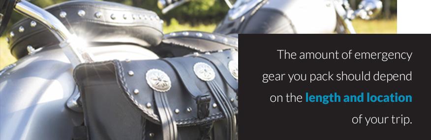 Emergency gear for road trip