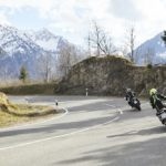 Motorcycles in mountains