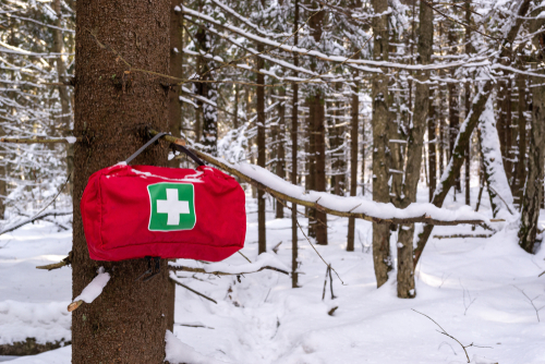 Red First Aid Travel Kit Pack Medicine Bag