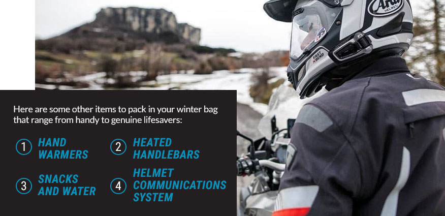 items to pack winter bag graphic
