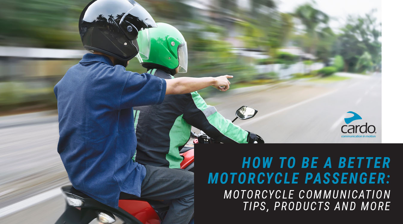 motorcycle passenger communication tips products more