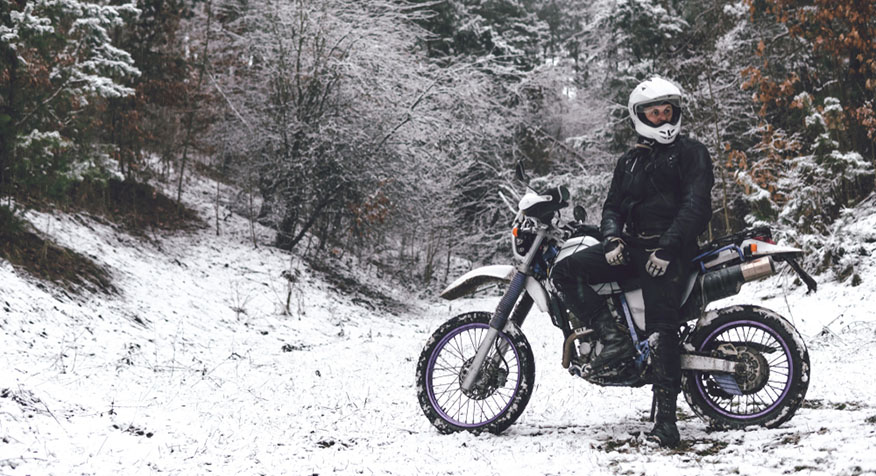 motorcycle rider winter gear