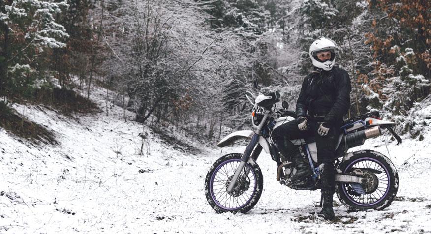 motorcycle rider winter gear