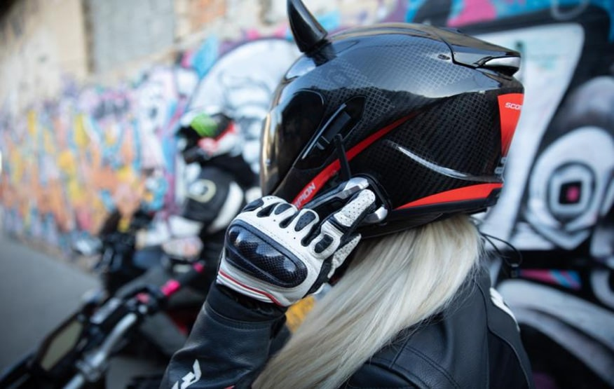 Cardo systems intercom on helmet