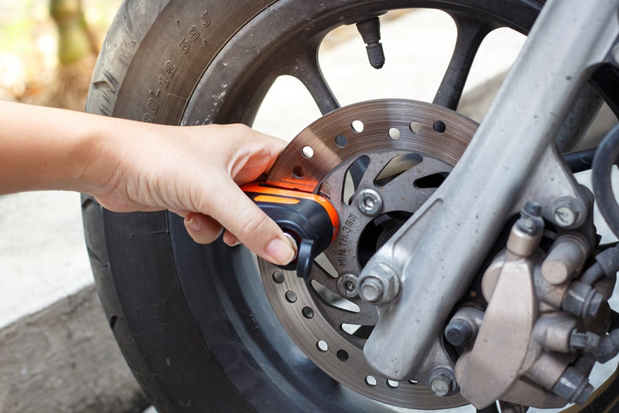 Wheel locks to secure your motorcycle