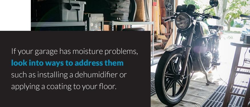 Moisture problems in garage