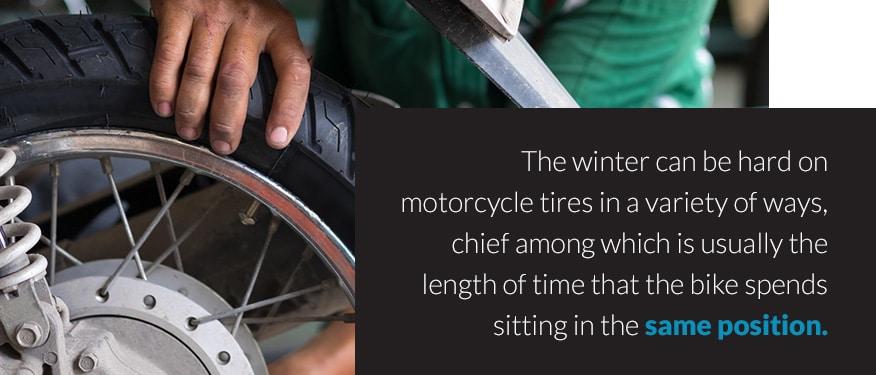 Motorcycle tires in winter