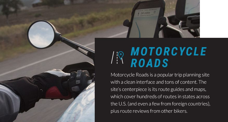 motorcycle roads trip planning graphic