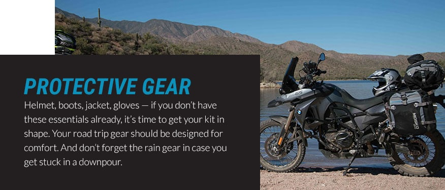 protective gear road trip graphic