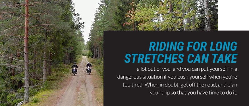 riding for long stretches graphic