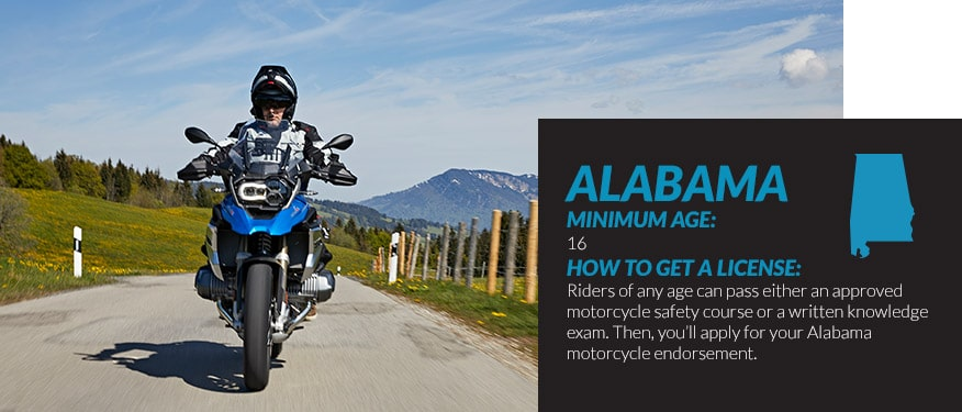 motorcycle license requirements in Alabama