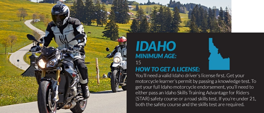 motorcycle license requirements in Idaho
