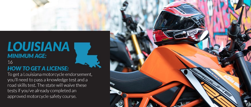 motorcycle license requirements in Louisiana