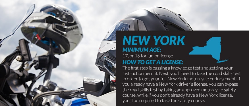 motorcycle license requirements in New York