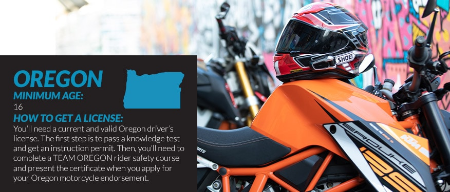 motorcycle license requirements in Oregon