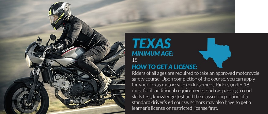 motorcycle license requirements in Texas