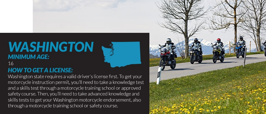 motorcycle license requirements in Washington