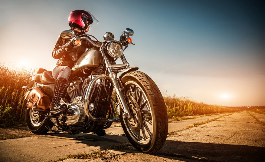 cruiser-style motorcycle