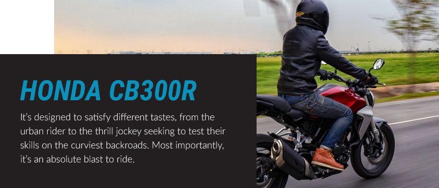 The Honda CB300R bike