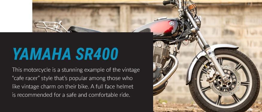 The yamaha sr400 bike