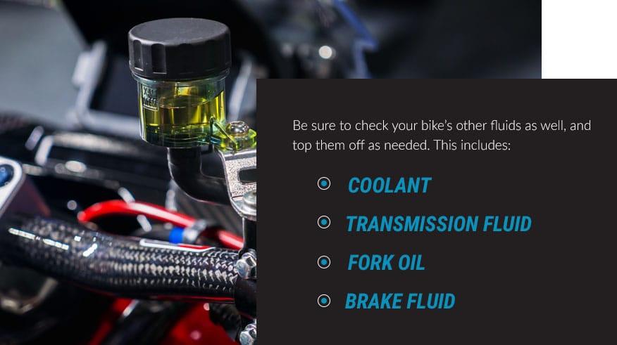 check your bikes fluids