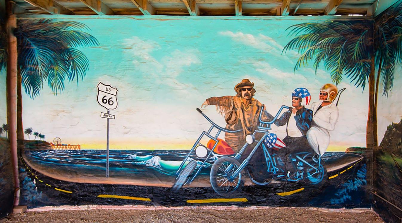 easy rider pier mural