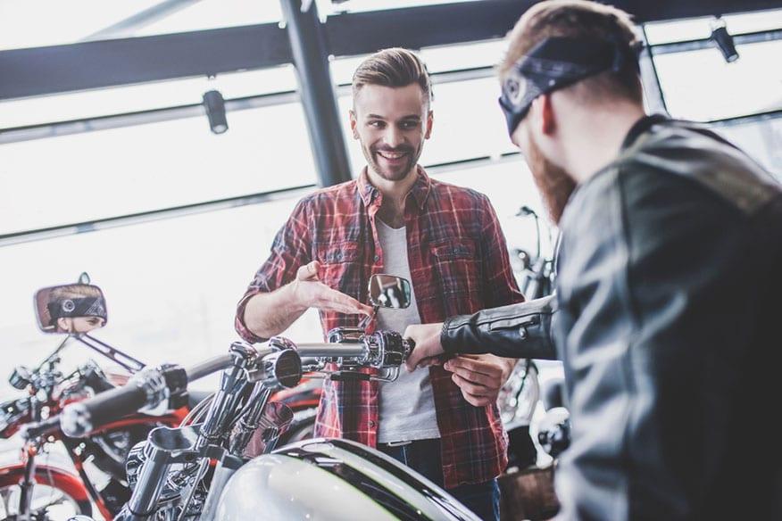 looking at dealership motorcycles