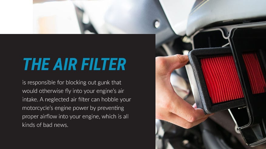the motorcycle air filter