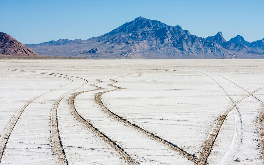 tire tracks dirt