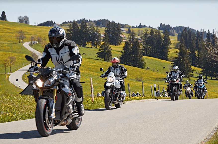 pack of motorcyclists