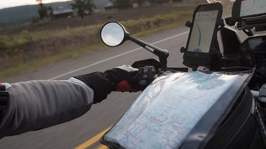 phone gps on motorcycle