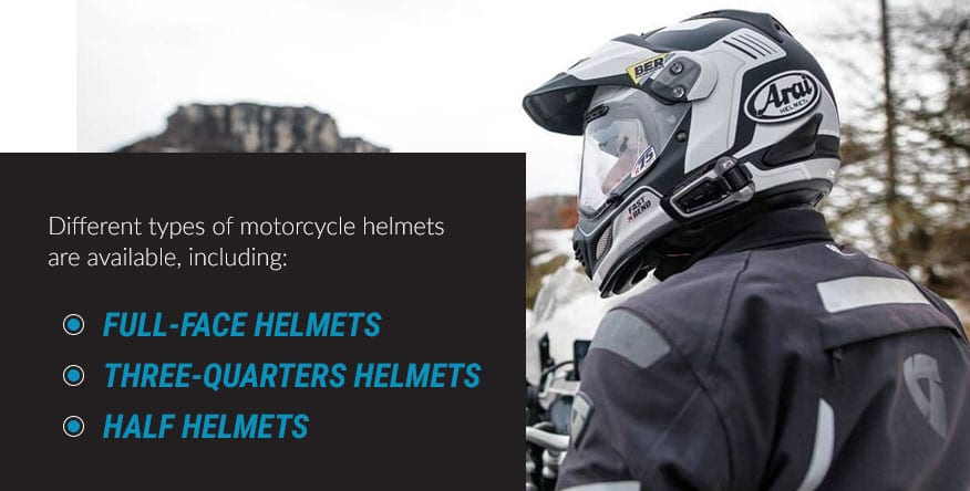 different motorcycle helmets