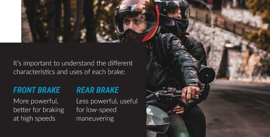 front brake rear brake