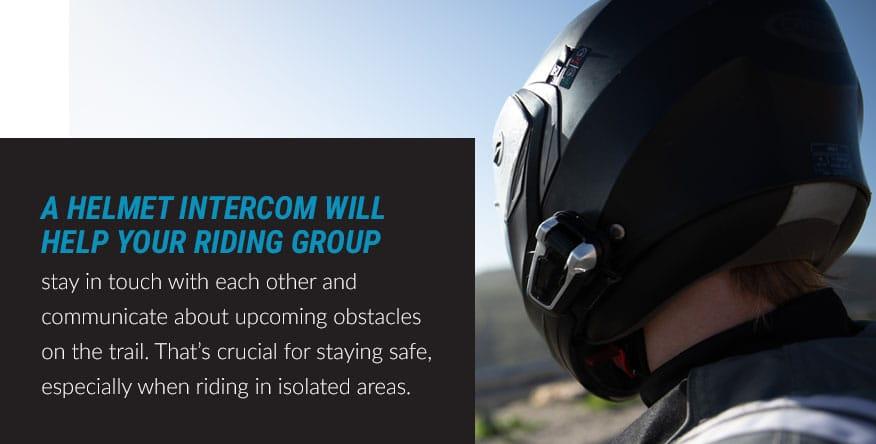 a helmet intercom system for groups