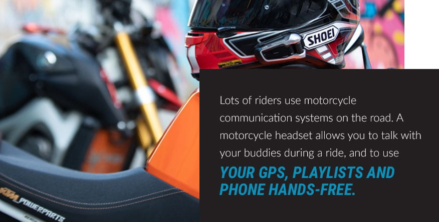 motorcycle communications systems on the road