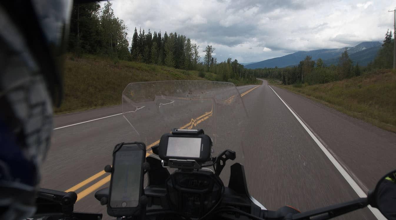 using gps app motorcycle handlebars