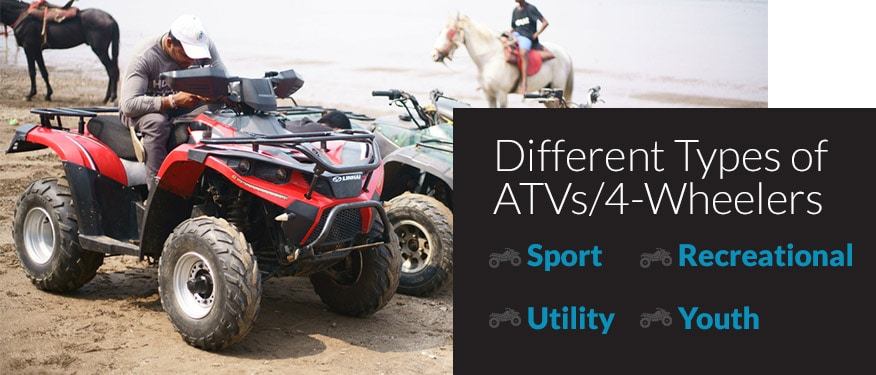 Different Types of ATVs 4 Wheelers