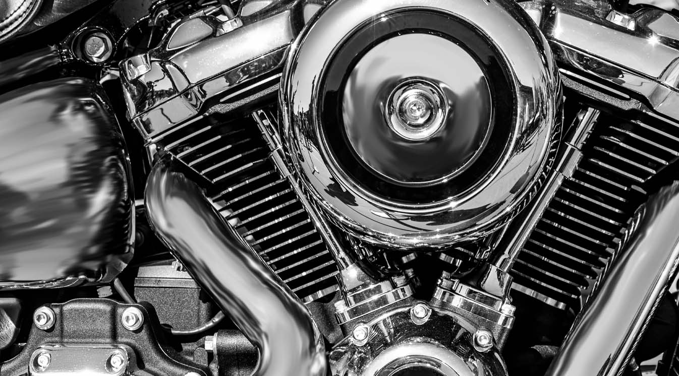 a close up of a motorcycle engine