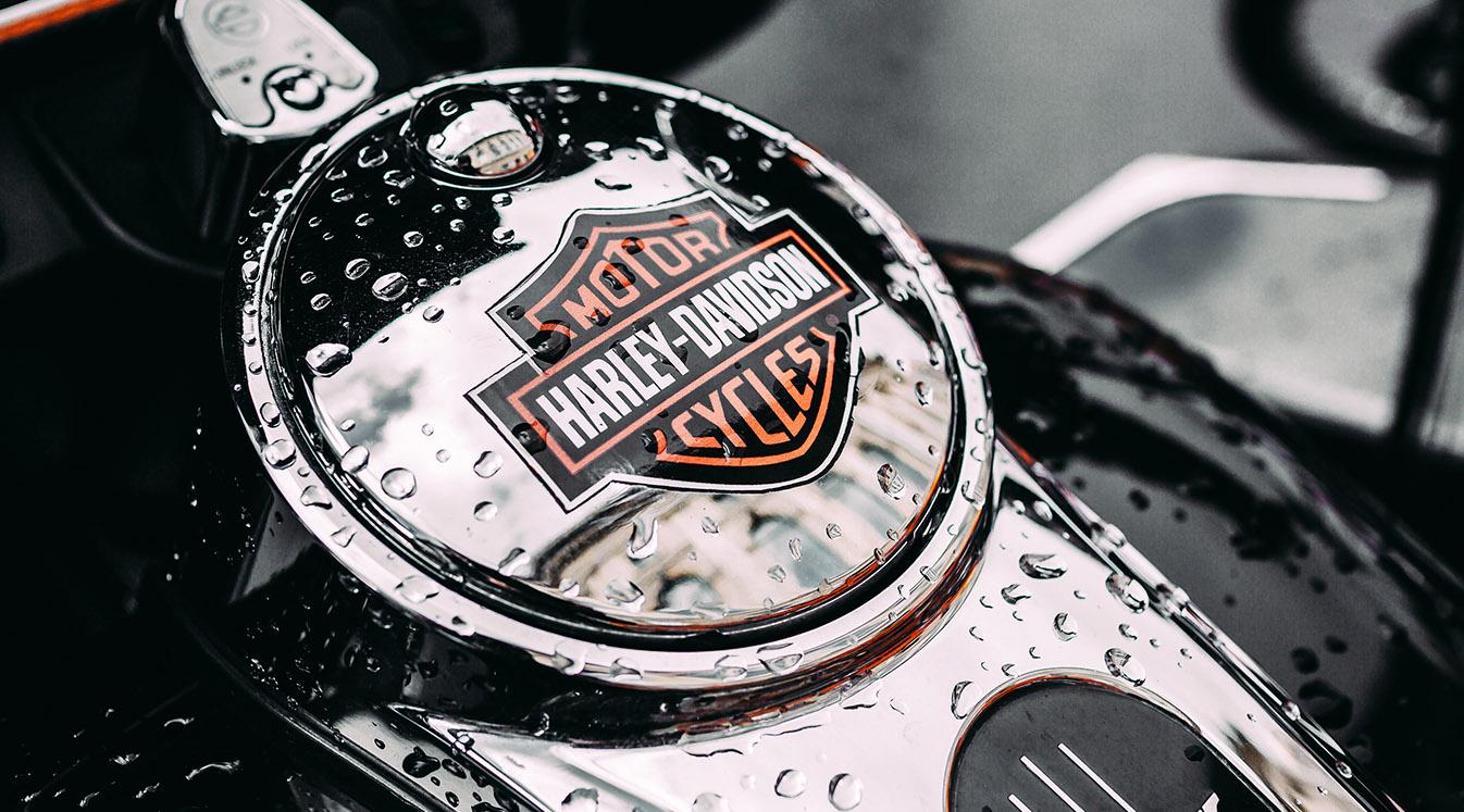 Harley Davidson Motorcycle tank